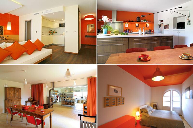 Decoration De Salon Couleur Orange Design En Image