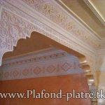 Decoration salon marocain avec platre