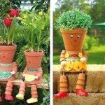 Pots decoration jardin