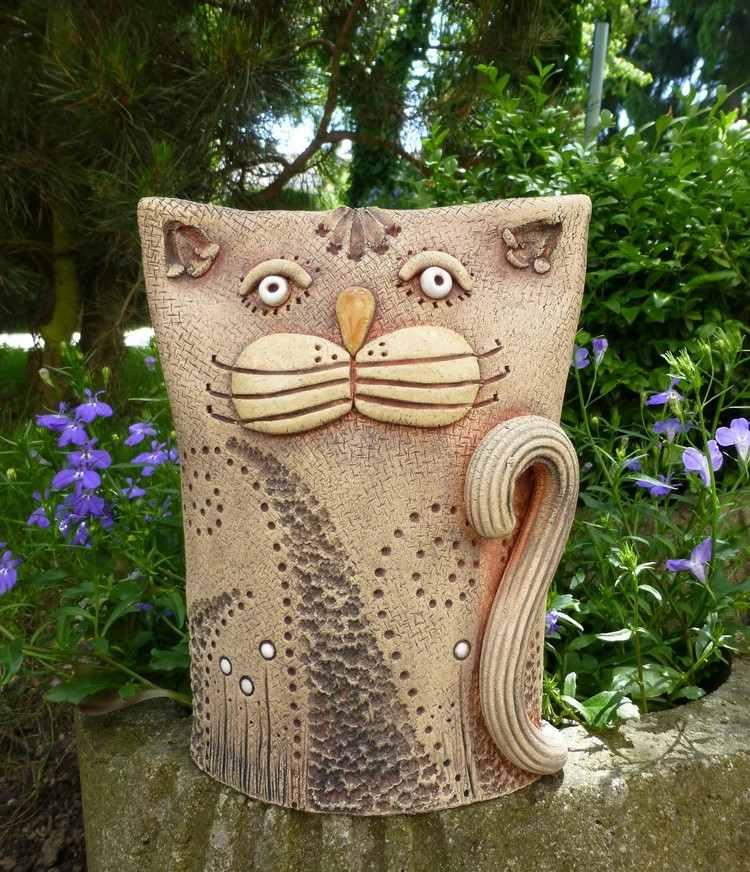 Decoration ceramique pour jardin - Design en image