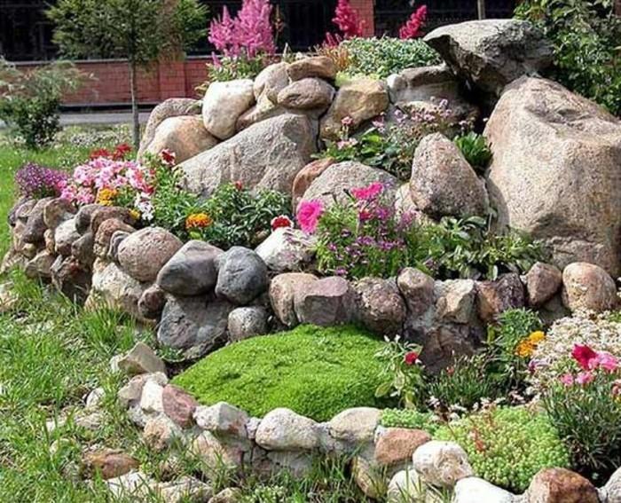 Décoration rocaille jardin - Design en image