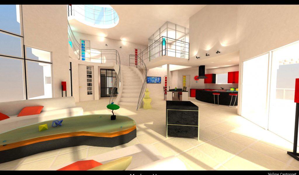 Decoration salon avec meuble ancien - Design en image