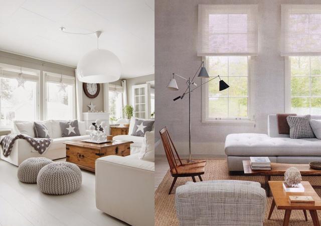 Decoration salon gris lin - Design en image