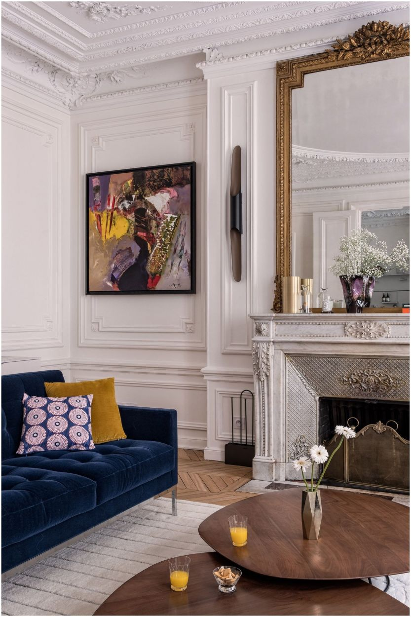 Decoration interieur salon cheminee - Design en image