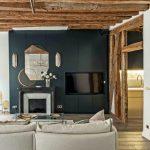 Decoration salon avec cheminée contemporaine