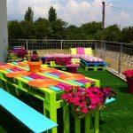 Décoration jardin avec palettes