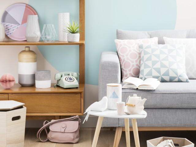 Salon decoration pastel - Design en image