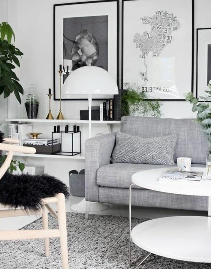 Decoration interieur gris et blanc - Design en image
