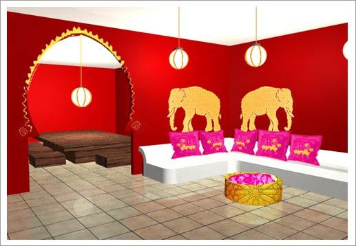 Decoration indienne pour salon - Design en image