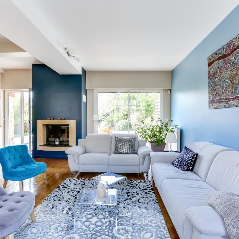 Decoration Salon Bleu Et Beige Design En Image