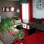 Décoration salon rouge et gris