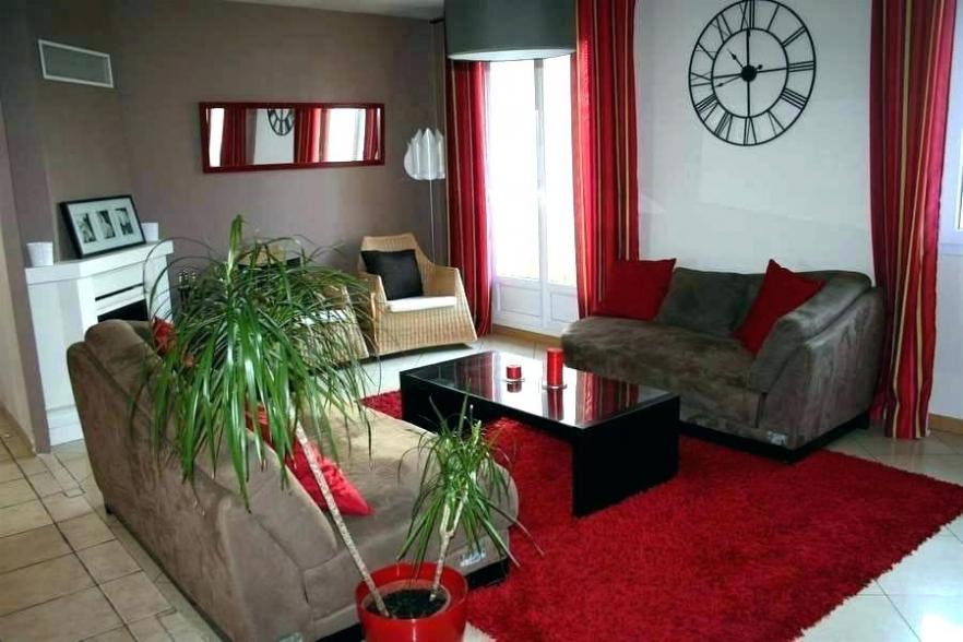 Décoration salon rouge et gris - Design en image