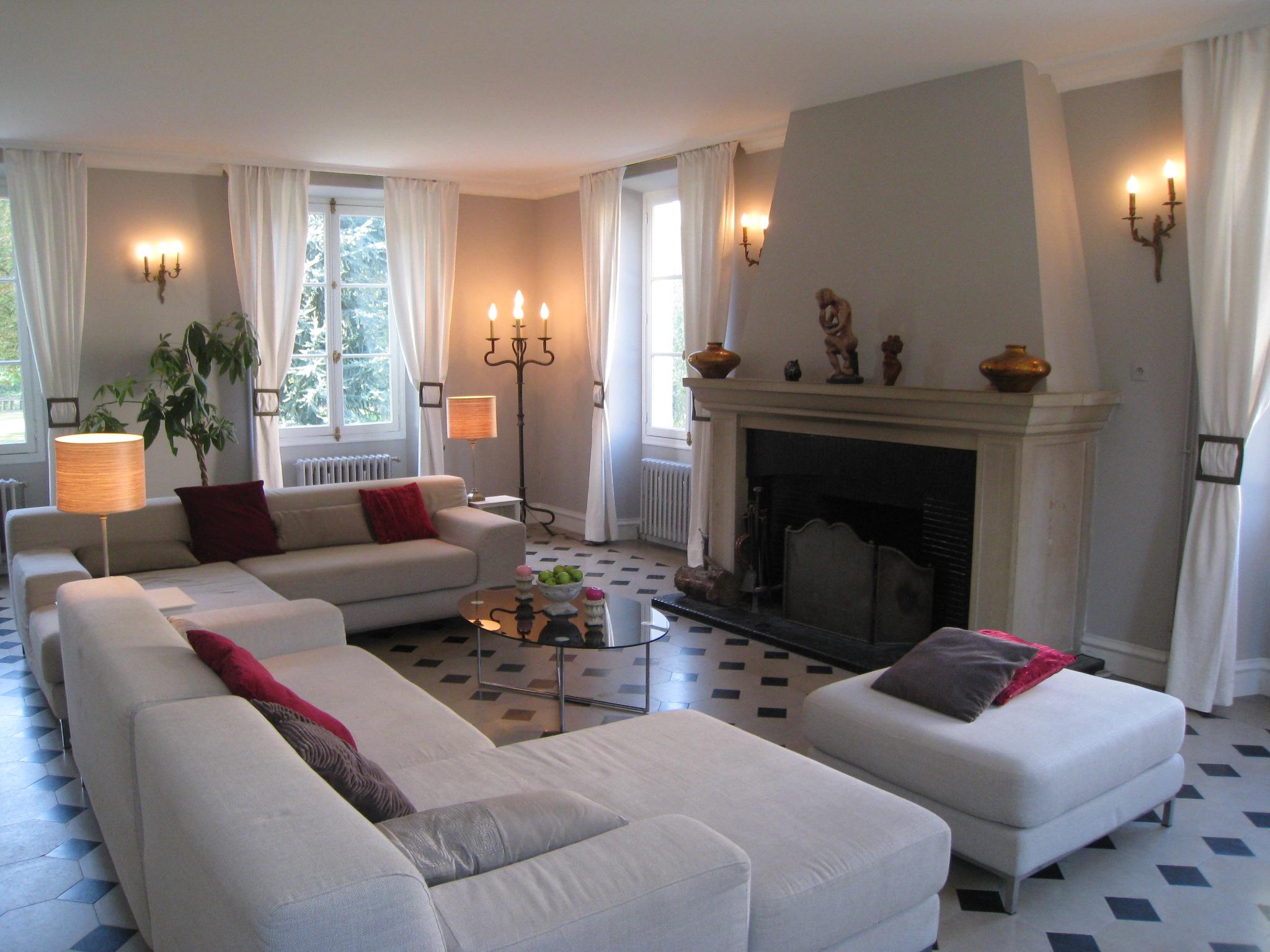 Decoration salon beige et rose pale design en image - Salon beige et noir ...
