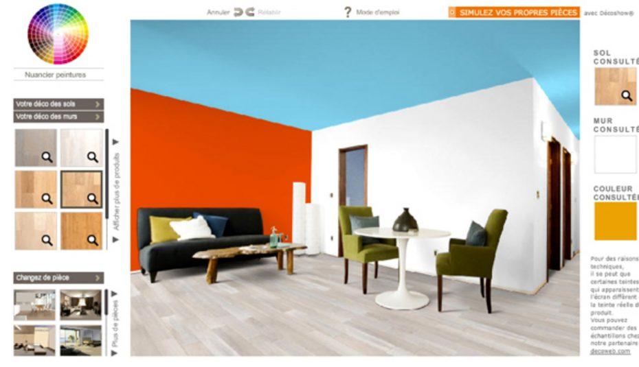 Simulateur decoration peinture interieur