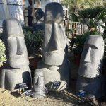 Moai decoration jardin