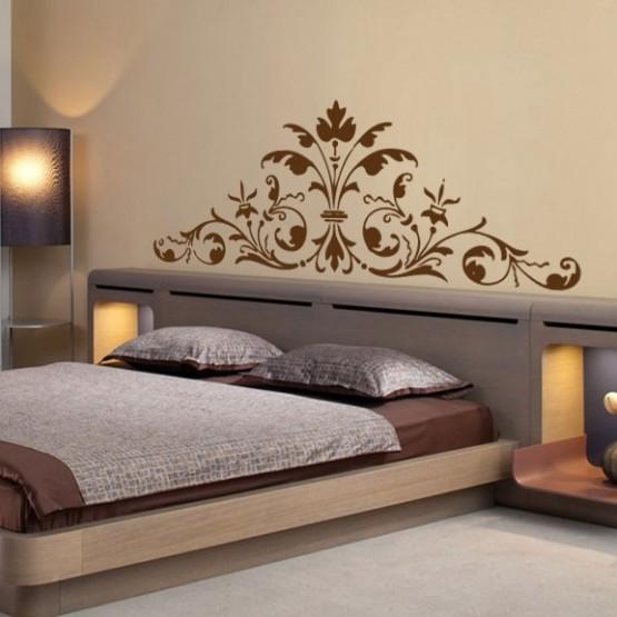 Decoration murale tete lit design en image Chambre style hindou