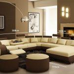 Decoration salon beige et noir