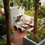 Decoration contemporaine pour jardin