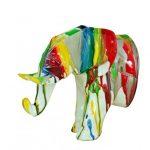 Decoration murale tete elephant