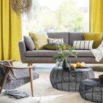 Decoration salon moderne jaune