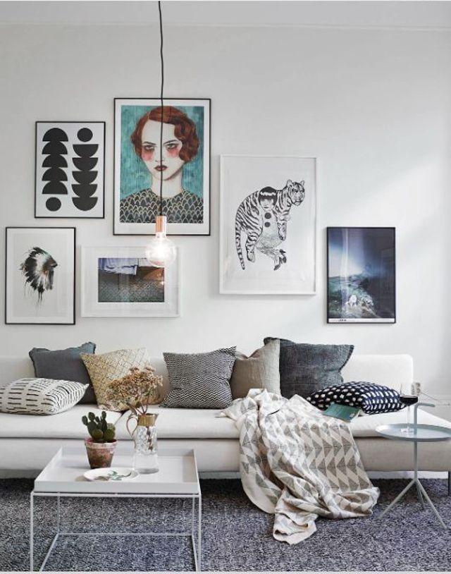 Idée decoration murale salon