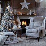 Decoration maison noel blanc
