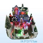 Décoration de noel maison miniature