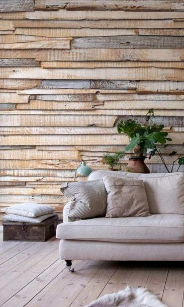 Planche bois decoration murale