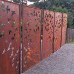 Décoration de jardin en acier corten
