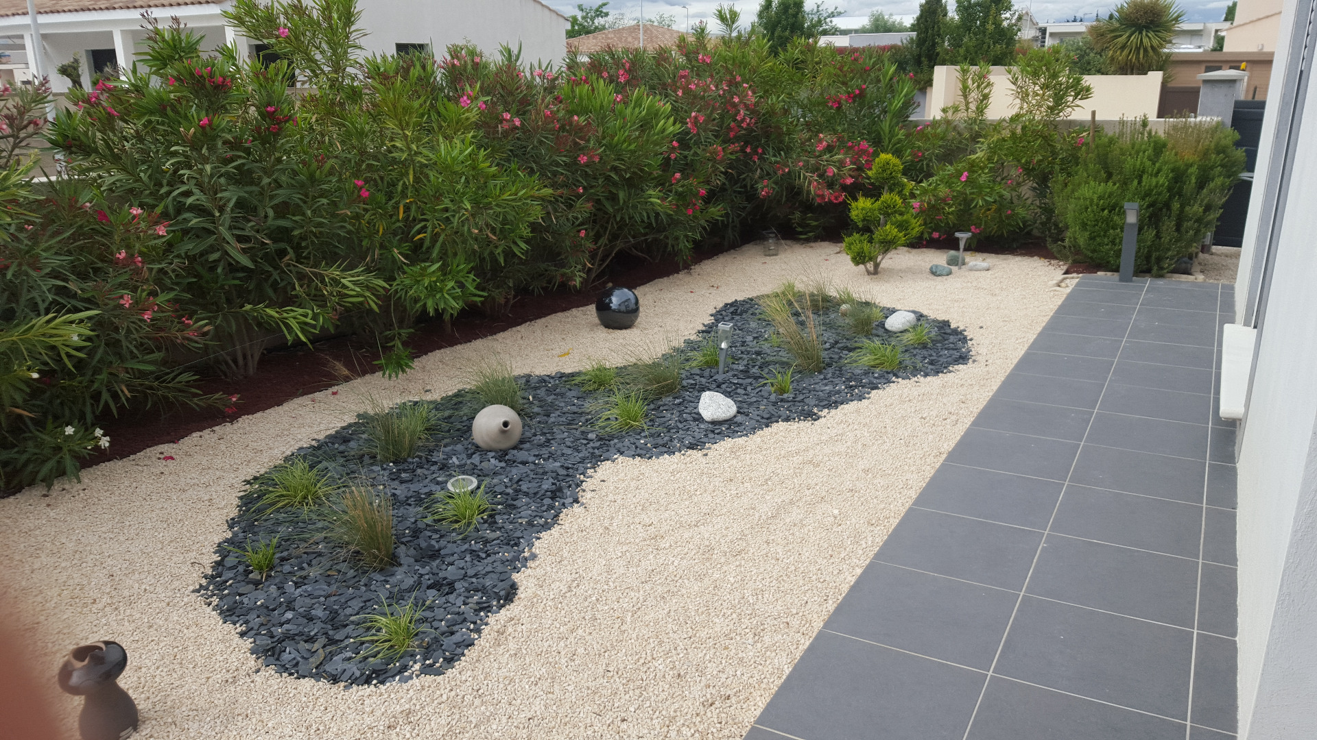 Decoration de jardin sec