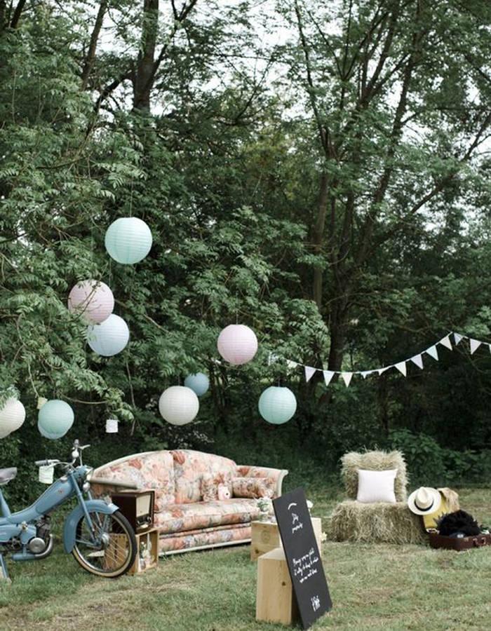 Decoration de jardin champetre