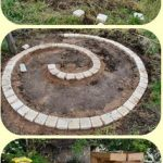 Decoration jardin spirale
