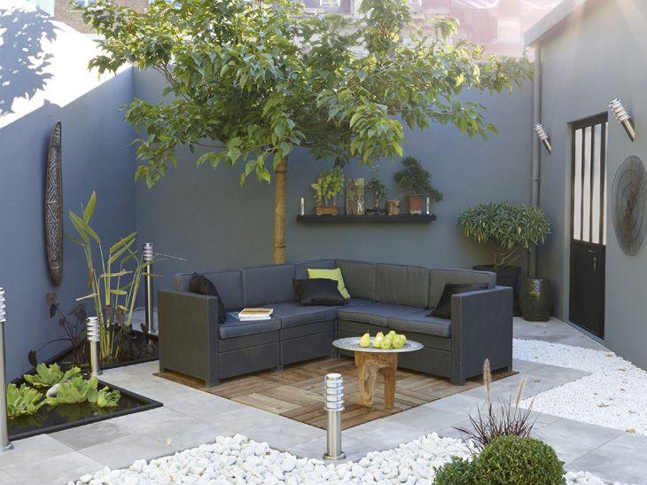 Terrasse bois décoration jardin