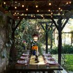 Table de jardin decoration