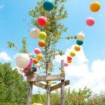 Decoration bapteme dans un jardin