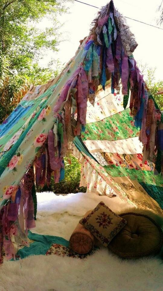 Decoration jardin hippie
