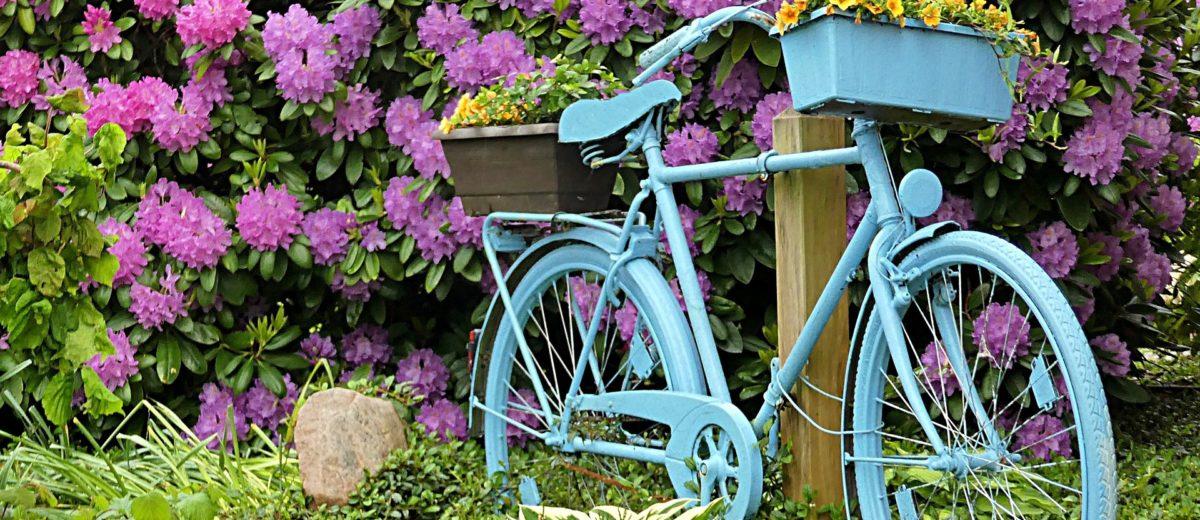 Velo décoration jardin