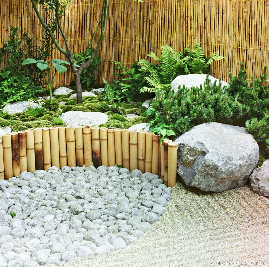 Decoration dans un jardin - Design en image