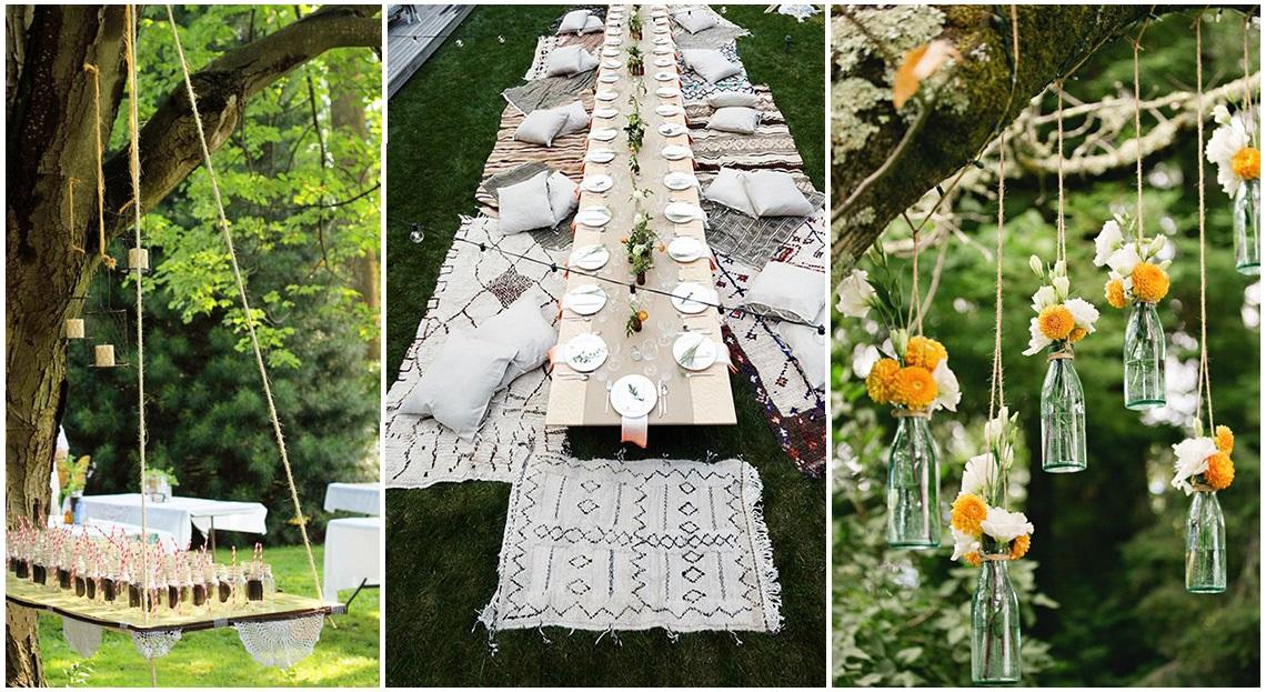 Decoration jardin pour un anniversaire