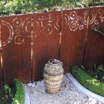 Panneaux en acier rouillé decoration de jardin