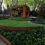 Decoration jardin corten