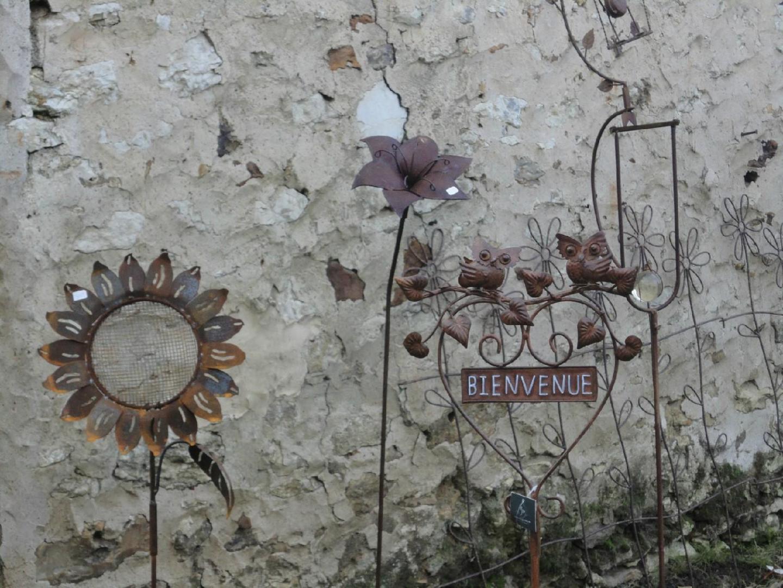 Decoration de jardin en fer rouille