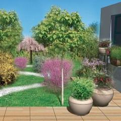 Decoration jardin avec jarre