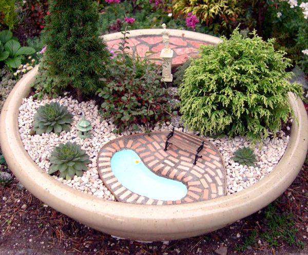Decoration mini jardin zen