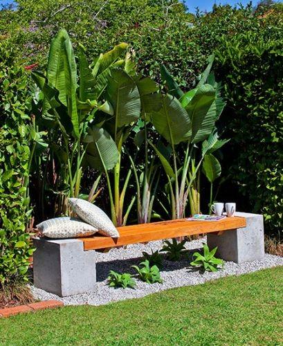 Decoration jardin en beton