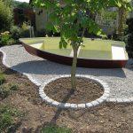 Decoration jardin avec cailloux blancs