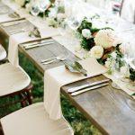 Decoration table mariage jardin