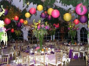 Decoration jardin pour une fete