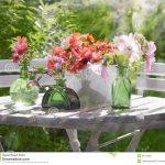 Décoration florale de jardin