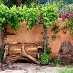 Decoration banc de jardin